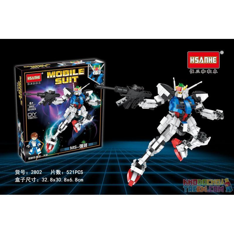 HSANHE 2802 Xếp hình kiểu Lego GUNDAM MS-Strike Gundam 521 khối