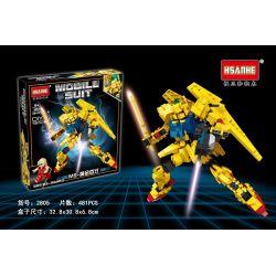 HSANHE 2805 Xếp hình kiểu Lego GUNDAM Mobile Suit Up To Up To MS-gold MS-Golden Trăm Kiểu 481 khối