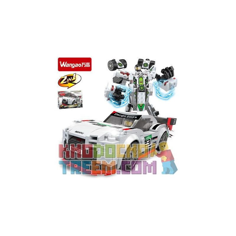 WANGAO 7020 Xếp hình kiểu Lego TRANSFORMERS Nissan GTR 256 khối