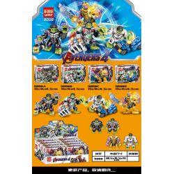 LEYLY 9008A 9008B 9008C 9008D Xếp hình kiểu Lego MARVEL SUPER HEROES Hulk, Thanos, 4 Minifigures Hulk Hulk, Thanos Master 4 loại gồm 4 hộp nhỏ