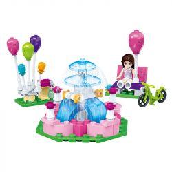 GUDI 9601 Xếp hình kiểu Lego MODERN GIRLS Modern Girls Fountain Square Music Fountain Square Music Fountain Square. 122 khối