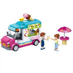 GUDI 9603 Xếp hình kiểu Lego MODERN GIRLS Modern Girls Ice-Gream Van Max's Ice Cream Car Xe Bán Kem Của Max 228 khối