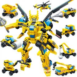 GUDI 8706 Xếp hình kiểu Lego POWER RANGERS SUPER SENTAI Superfine Team Lei Wi Machine Ares 8 Combination Engineer Body 1 Thunder Wing Mech God Of War 8 Combination Engineering Mech 8 Trong 1
