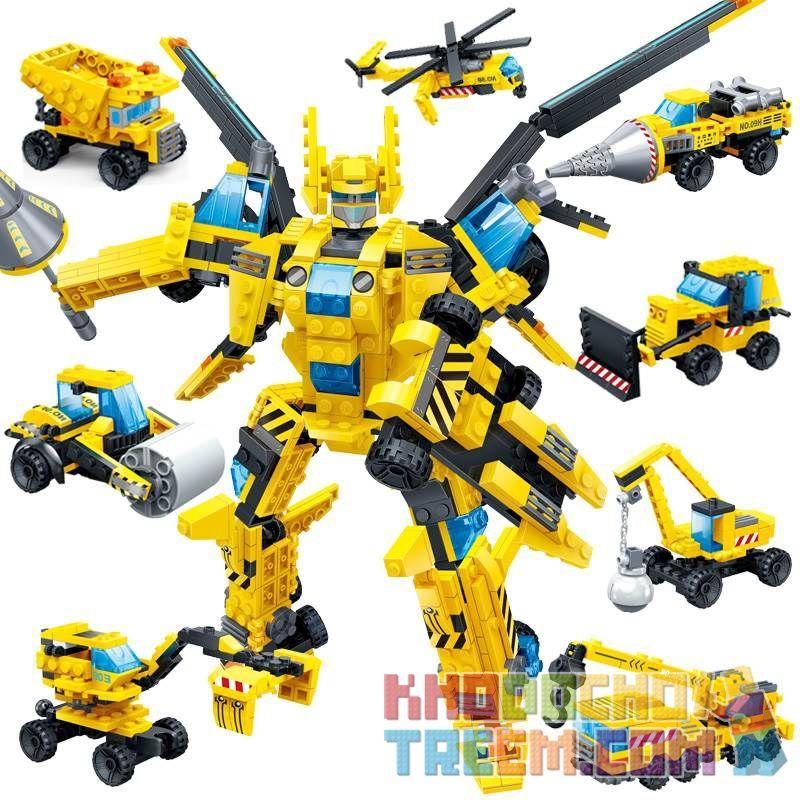 GUDI 8706 Xếp hình kiểu Lego POWER RANGERS SUPER SENTAI Thunder Wing Mecha Ares 8 Combinations, Engineering Mecha 8 In 1 Thunder Wing Mech God of War 8 Combination Engineering Mech 8 trong 1