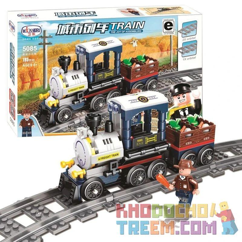 Winner 5085 Xếp hình kiểu Lego TRAINS Freight Train Chuyến tàu chở hàng 195 khối