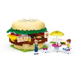 GUDI 9610 Xếp hình kiểu Lego MODERN GIRLS Modern Girls Burger Shop Hamburg Cửa Hàng Bánh Mì Kẹp Thịt 176 khối