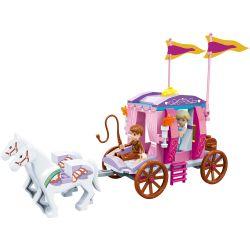 GUDI 9009 Xếp hình kiểu Lego ALICE PRINCESS Royal Carriage Cỗ xe hoàng gia 142 khối