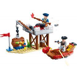 GUDI 9108 Xếp hình kiểu Lego PIRATES OF THE CARIBBEAN Legend Of Pirates Coast Line Pirate Legend Coastal Line Phòng Thủ Bờ Biển 129 khối