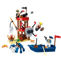 GUDI 9109 Xếp hình kiểu Lego PIRATES OF THE CARIBBEAN Legend Of Pirates Death Island Pirate Legend Dead Island Hòn đảo Chết 187 khối