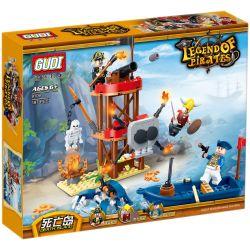 GUDI 9109 Xếp hình kiểu Lego PIRATES OF THE CARIBBEAN Dead Island Hòn đảo chết 187 khối