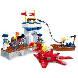 GUDI 9111 Xếp hình kiểu Lego PIRATES OF THE CARIBBEAN Legend Of Pirates Port Royale Pirate Legend Royal Port Cổng Hoàng Gia 208 khối