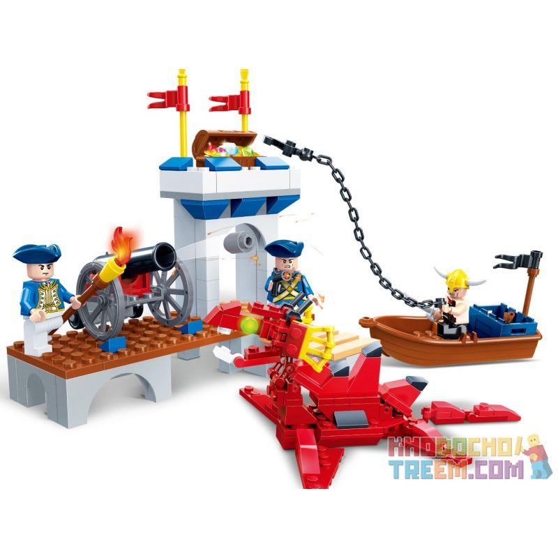 GUDI 9111 Xếp hình kiểu Lego PIRATES OF THE CARIBBEAN Port Royal Cổng hoàng gia 208 khối