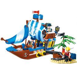 GUDI 9112 Xếp hình kiểu Lego PIRATES OF THE CARIBBEAN Legend Of Pirates Pirate Stronghold Pirate Legend Thành Trì Cướp Biển 200 khối