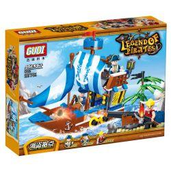 GUDI 9112 Xếp hình kiểu Lego PIRATES OF THE CARIBBEAN Pirate Stronghold Thành trì cướp biển 200 khối