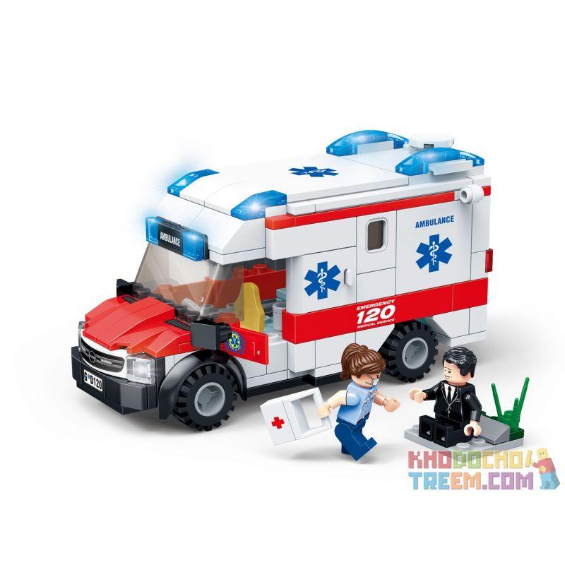 GUDI 9220 Xếp hình kiểu Lego CITY Medical Ambulance Xe cứu thương 200 khối