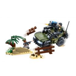 GUDI 8031 Xếp hình kiểu Lego TIGER HUNT Tiger Hunt Border Raids Hunting Border Conflict Xung đột Biên Giới 183 khối