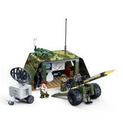 GUDI 8032 Xếp hình kiểu Lego TIGER HUNT Tiger Hunt Field Artillery Positions Hunting Field Warfare Trận địa Pháo 185 khối