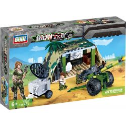 GUDI 8032 Xếp hình kiểu Lego TIGER HUNT Field Artillery Position Trận địa pháo 185 khối