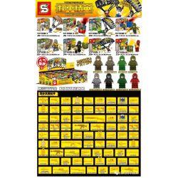 SHENG YUAN SY SY1330 1330 Xếp hình kiểu Lego PUBG BATTLEGROUNDS Jedi Survival Peace Elite 8 Các Mô Hình PlayerUnknown's Battlegrounds Peace Elite 8 179 khối