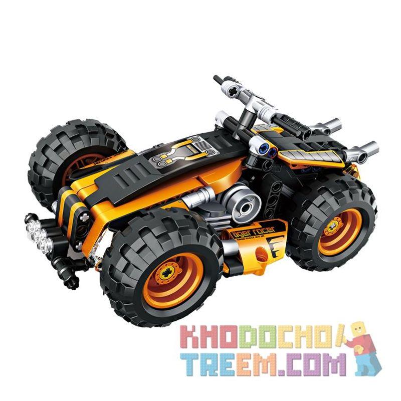 Decool 3801 Jisi 3801 Xếp hình kiểu Lego TECHNIC Motocross 286 khối có động cơ kéo thả