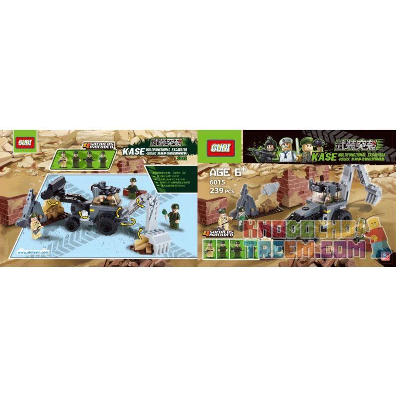 GUDI 600030A 6015 Xếp hình kiểu Lego MILITARY ARMY Armed Assault Series Loạt tấn công có vũ trang 239 khối