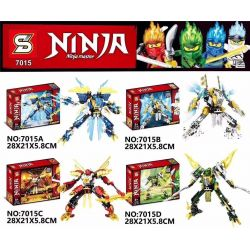 SHENG YUAN SY 7015 7015A 7015B 7015C 7015D Xếp hình kiểu Lego THE LEGO NINJAGO MOVIE Dragon Mech 4 Types Dragon Mech 4 loại gồm 4 hộp nhỏ