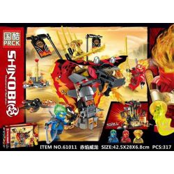 PRCK 61011 Xếp hình kiểu Lego THE LEGO NINJAGO MOVIE Red Flame Veyron 317 khối