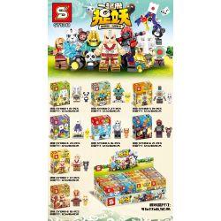 SHENG YUAN SY SY1348 1348 Xếp hình kiểu Lego COLLECTABLE MINIFIGURES Come Together To Catch The Demon Cross 8 Hãy Bắt Quái Vật 8 Minifigures 154 khối
