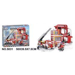 Winner 5031 Xếp hình kiểu Lego ROCK CITY Locke City Fire Department Sở Cứu Hỏa