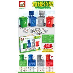 ELEPHANT JX90071 90071 Xếp hình kiểu Lego Garbage Classification Phân loại rác 416 khối