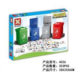 SX 4026 YGL 83004 Xếp hình kiểu Lego Trash Can thùng rác 353 khối