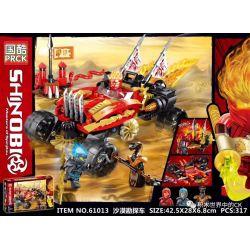 PRCK 61013 Xếp hình kiểu Lego THE LEGO NINJAGO MOVIE Desert Exploration Vehicle Xe thám hiểm sa mạc 317 khối