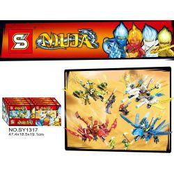 SHENG YUAN SY 1317 SY1317 1317 SY1317A 1317A SY1317B 1317B SY1317C 1317C SY1317D 1317D Xếp hình kiểu THE LEGO NINJAGO MOVIE Niuja Phantom Ninja Feilong Mount 4 Gold Flying Dragon, Incanded Shadow Tian