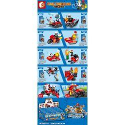 SEMBO 603045 Xếp hình kiểu Lego FIRE RESCURE Fire Frontline Fire Front Line Fire Carrier 8 Combinations 8 Tổ Hợp Xe Cứu Hỏa 324 khối