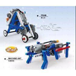 WANGE 3805 Xếp hình kiểu Lego MINDSTORMS STEAM Technical Power Machinery Ants, Stroller Kiến, Xe đẩy lắp được 2 mẫu 139 khối