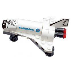 Enlighten 502 Qman 502 ZEPHYR KNIGHT 2007 Xếp hình kiểu Lego Mini Space Shuttle Aerospace Tàu Con Thoi 30 khối
