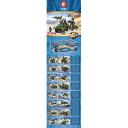 SEMBO 105201 105202 105203 105204 105205 105206 105207 105208 Xếp hình kiểu Lego IRON BLOOD HEAVY EQUIPMENT Iron Plate Airfield Trận Chiến Trên Không gồm 8 hộp nhỏ 819 khối