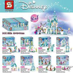 SHENG YUAN SY SY6583 6583 Xếp hình kiểu Lego Frozen Ice Castle 8 Combinations 8 Sự Kết Hợp Của Lâu đài Băng Và Tuyết 599 khối