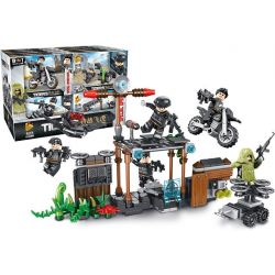 PanlosBrick 630001 Panlos Brick 630001 Xếp hình kiểu Lego TIGERS Tigers Special Op's Flying Tigers Special War 8 Small Scenes 8 Cảnh Nhỏ 340 khối