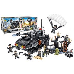 PanlosBrick 630002 Panlos Brick 630002 Xếp hình kiểu Lego TIGERS Tigers Special Op's Flying Tigers Special War 8 Small Scene Armored Vehicles 8 Cảnh Nhỏ Xe Bọc Thép