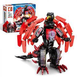 SEMBO 108591 Xếp hình kiểu Lego ULTRAMAN Ultraman Heros Cosmic Hero Altman The Strongest Beli-fusion Beast Quái Thú Dung Hợp Beria Mạnh Nhất Chimei Labelles 386 khối