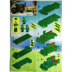 Enlighten 0273 Qman 0273 Xếp hình kiểu Lego Century Military Military Ambulance Xe Cứu Thương Quân Sự