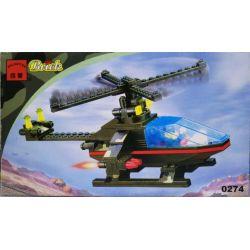 Enlighten 0274 Qman 0274 Xếp hình kiểu Lego Century Military Heliculated Bomber Máy Bay Ném Bom Trực Thăng