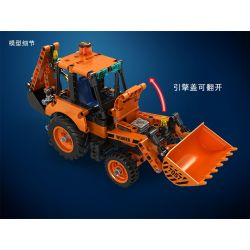 Winner 7057 Xếp hình kiểu Lego TECHNIC Technique Backhoe Loader Technology Assembly 377 khối