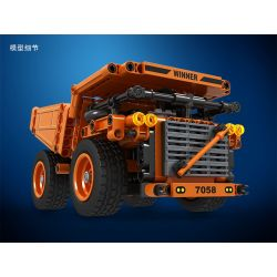 Winner 7058 Xếp hình kiểu Lego TECHNIC Technique Minning Truck Technology Assembly Mining Truck Xe Tải Khai Thác 379 khối