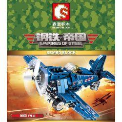 SEMBO 704100 Xếp hình kiểu Lego EMPIRES OF STEEL Empires Of Steel F4U Steel Empire US F4U Fighter Máy Bay Chiến đấu F4U Của Mỹ 205 khối