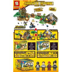 SHENG YUAN SY 1362 SY1362 1362 SY1362A 1362A SY1362B 1362B Xếp hình kiểu Lego GAME FOR PEACE Peaceful Elite 2 In 1 Building To The Battlefield Rainforest, Snow Farm Wooden House Cảnh Chiến đấu Kiến 