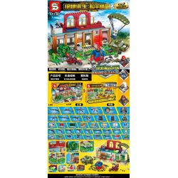 SHENG YUAN SY SY1365 1365 Xếp hình kiểu Lego GAME FOR PEACE Peaceful Elite Jedi Island - P City Commodity Building Đảo Phục Xây Dựng Hàng Hóa Thành Phố Jedi Island-P 445 khối