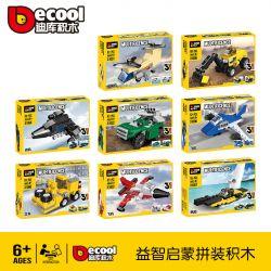 Decool 31001 31002 31003 31004 31005 31006 31007 31008 Jisi 31001 31002 31003 31004 31005 31006 31007 31008 Xếp hình kiểu Lego CREATOR 3 IN 1 Multificence Creative Three Changes 8 8 Mô Hình gồm 8 hộp