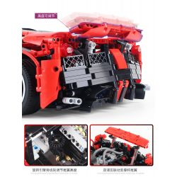 HAPPY BUILD XQ1002 1002 Xếp hình kiểu Lego TECHNIC Ferrari LaFerrari 3260 khối điều khiển từ xa